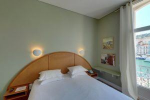 Hôtel Orque Bleue chambre vue canal