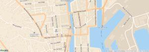 Hôtel Orque Bleue plan de Sète