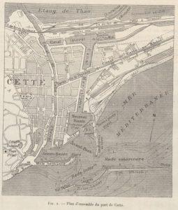 Hôtel Orque Bleue plan Sète ancien