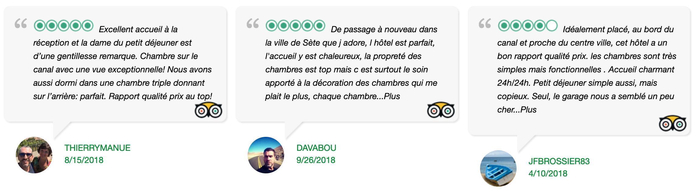 Avis Tripadvisor Hôtel L'Orque Bleue