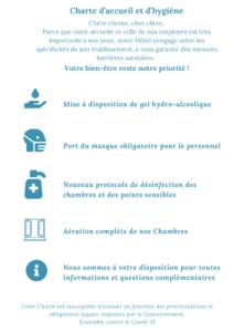 Charte d'accueil et d'hygiène